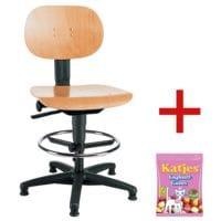 Topstar Chaise / Siège de bureau pivotant(e) « Tec 11 Counter » sans accoudoirs avec bonbons gélifiés « Joghurtgums »