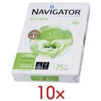 10x Papier imprimante multifonction A4 Navigator Eco-Logical - 5000 feuilles au total