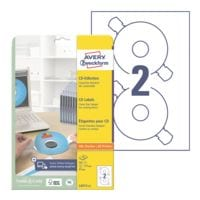 Avery Zweckform Paquet de 50 étiquettes CD/DVD « L6015-25 »