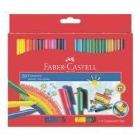 Faber-Castell Étui en carton de 20 feutres « Connector »