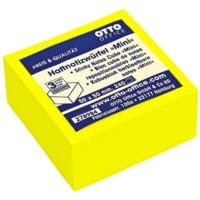 OTTO Office Bloc cube de notes repositionnables 50x50 mm « Mini » jaune brillant