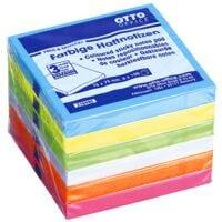 6x OTTO Office bloc de notes repositionnables 7,5 x 7,5 cm, 600 feuilles au total, couleurs assorties