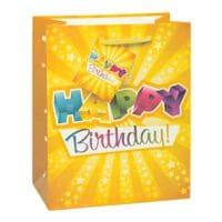 TSI Sac en papier laqué « Happy Birthday »