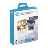 HP Papier photo jet d'encre « Social Media Snapshot » 10x13 25 feuilles