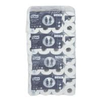 Tork papier toilette Advanced 2 épaisseurs, blanc - 64 rouleaux (8 paquets de 8 rouleaux)