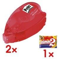 Pritt 2x rollers de colle « Refill permanent » avec 1 paquet de bonbons « Nimm 2 »