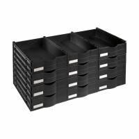 OTTO Office Bloc de tiroirs pour armoire en acier avec portes battantes