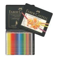 Faber-Castell Étui de 24 crayons de couleurs « Polychromos »