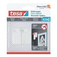 tesa Clous adhésifs réglables pour papier peint et crépi 77772