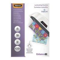 Fellowes 100 pièce(s) Pochettes de plastification Laminating Pouches A3 80 µ