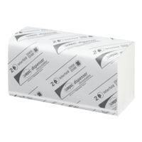 Essuie-mains en papier wepa Prestige 2 épaisseurs, blanc, 20,6 cm x 24 cm de Cellulose avec pliage en I - 3750 feuilles au total