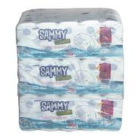 wepa Sammy papier toilette Hybrid 4 épaisseurs, blanc - 90 rouleaux (9 paquets de 10 rouleaux)