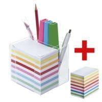 folia Bloc cube avec porte-stylos et bloc de rechange