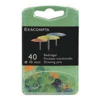 EXACOMPTA Paquet de 40 punaises « Linocolor »