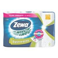 Zewa Rouleaux d'essuie-toutdouble épaisseur, 4 rouleaux « Wisch & Weg »