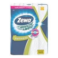 Zewa Rouleaux d'essuie-toutdouble épaisseur, 16 rouleaux « Wisch & Weg »