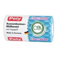 Pely sacs poubelle avec poignée 5 L transparent - 40 pièce(s)