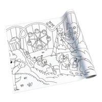 Rouleau de papier à dessin créatif « parc d'attraction »