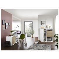 Germania-Werke Lot de meubles « Paseo » 2 pièces, bureau compact piètement plein