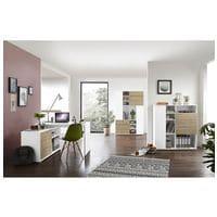 Germania-Werke Lot de meubles « Paseo » 3 pièces, bureau compact piètement plein + 2x armoire