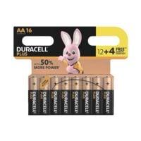Duracell Paquet de 16 piles « Plus » Mignon / AA 12+4 Promo