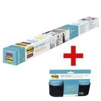 Post-it Film Dry Erase « DEF4X3-EU » avec corbeille de rangement « DEFTRAY-EU »