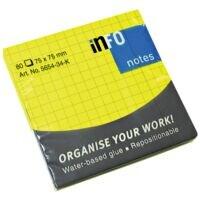 inFO bloc de notes repositionnables 7,5 x 7,5 cm, 80 feuilles au total, couleurs assorties