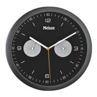 Mebus Horloge murale à quartz avec hygromètre et thermomètre 16000 Ø 26,5 cm