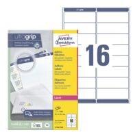 Avery Zweckform Paquet de 1600 étiquettes d'adresse avec ultragrip « L7162-100 »