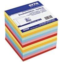 OTTO Office Feuillets de rechange couleur pour bloc cube