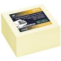 OTTO Office Premium bloc de notes repositionnables ultra fort 7,5/7,5 cm, 400 feuilles au total, jaune