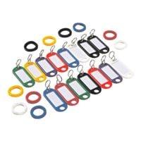 Wedo Paquet de 25 porte-clés et anneaux, assortis