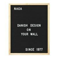 NAGA Tableau à craie, 40x50 cm magnétique avec 149 lettres
