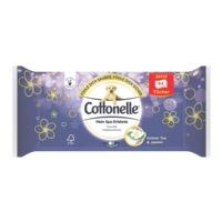 Cottonelle lingettes hygiéniques humides thé vert & jasmin simple épaisseur, blanc - 1 x 44 lingettes
