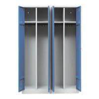 Gürkan Armoire vestiaire, 2x2, acier, sur socle, 117 x 180 cm