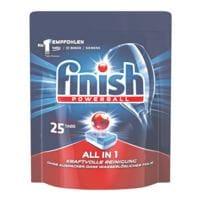 finish Paquet de 25 tablettes nettoyantes pour lave-vaisselle « All in 1 »