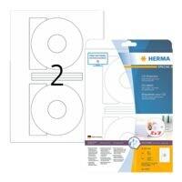 Herma Paquet de 50 étiquettes CD à adhésif permanent (grande ouverture)