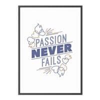 Paperflow Cadre décoratif mural A3 « Passion never fails » cadre noir
