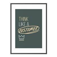 Paperflow Cadre décoratif mural  « Think like a customer » cadre noir