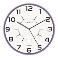 unilux Horloge murale « Pop », lilas