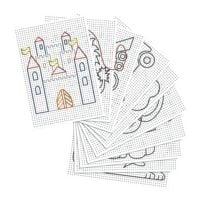folia Cartons à broder blancs avec imprimé, 40 feuilles