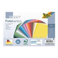 folia Carton photo, 25 couleurs (50 feuilles)