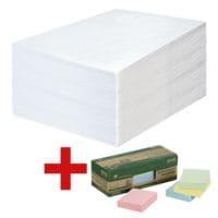 OTTO Office 500 pochettes d'expédition, C5 90 g/m² sans fenêtre avec Bloc de notes repositionnables « Recycling Notes Farbmix » 50 x 40 mm, 12 pièces