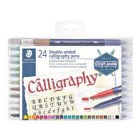 STAEDTLER Paquet de 24 feutres double fibre « Design Journey calligraphie »
