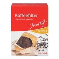 Jeden Tag Paquet de 100 filtres à café marron nature, taille 2