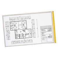 EICHNER 10 pochettes de protection de plans format A3 avec protection UV