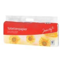 Jeden Tag papier toilette Classic 3 épaisseurs, blanc - 10 rouleaux (1 paquet de 10 rouleaux)