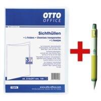 OTTO Office Pochettes transparentes « standard » avec porte-mines « Yula-Sha »