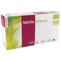 100 gant à usage unique nitrile, Taille M bleu