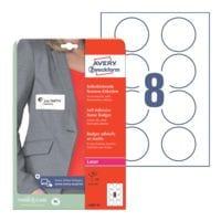 Avery Zweckform Badge autocollant en textile Ø:65 mm blanc (L4881-20)